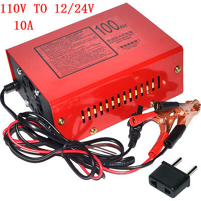 New 110V Full Automatic Electric Car Lead Acid Battery Charger 12V/24V Output