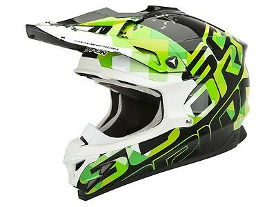 Scorpion VX 15 Evo Air Grid schwarz grün Motocross Helm Enduro Offroad MX