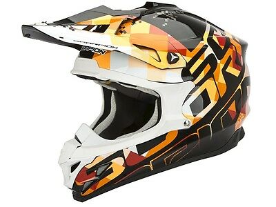 Scorpion VX 15 Evo Air Grid schwarz orange Motocross Enduro Downhill MX Helm