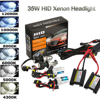 35W Car HID Xenon Headlight Conversion KIT Bulbs H1 H3 H4 H8 H11 9005 9004 880