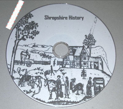 History ebooks, of Shropshire genealogy 72 pdf & kelly's directories, on disc