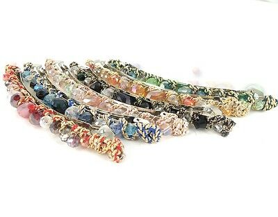 New Flash Colorful Beads Irregular Crystal Wrapped Around Hairpin Cute Barrette