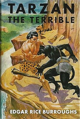 Tirage Grosset & Dunlap 1950 Edgar Rice Burroughs : Tarzan The Terrible