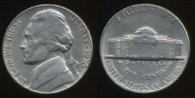 United States, 1970-S 5 Cents, Jefferson Nickel - Extra Fine