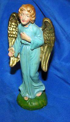 1950's Vtg Composition Nativity Angel, Japan Xmas Ornament, Standing Ex Cond