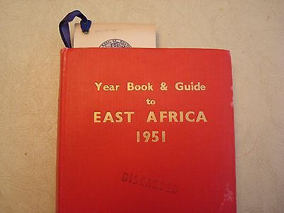 1951 Yearbook and Guide to East Africa with Map Standard Bank of South Africa