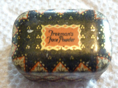"Freeman's Face Powder Tin, Vintage  Mini Sample, 1 1/8 X 3/4 X 5/8 ""    Beauty!"