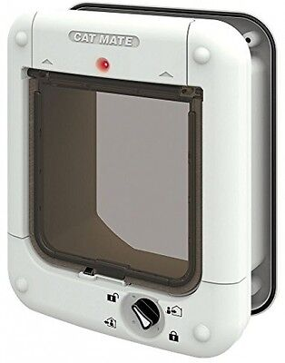 Cat Mate Microchip Cat Flap (White) - Registers up to 30 Cats