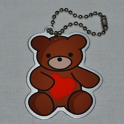 Amore the Teddy Bear Travel Tag. Trackable. Unactivated. Geocaching.