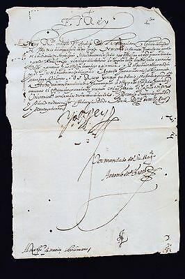 1578 Indian Missions  Mexico - Letter Signed By King Of Spain To Archbishop