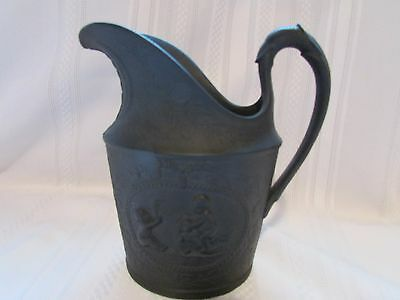 Creil black basalt creamer/small pitcher manufactured in France 1812 to 1827