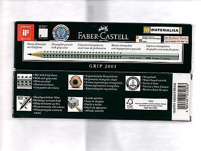 Faber Castell GRIP 2001 Ergonomic Triangular Pencil 2B-B-HB-H-2H - Available