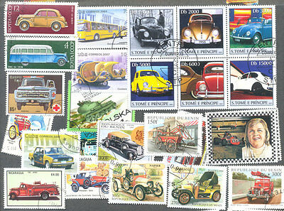Cars 300 all different stamps collection-inc.Trucks,Buses,all motorised vehicles