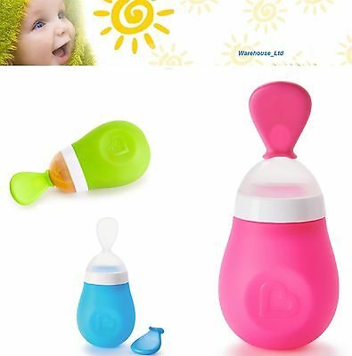 Munchkin Squeeze Spoon Baby Toddler Weaning Feeding Squirt-3 Colours