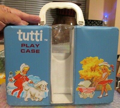1965 Mattel ~*tutti* ~Original Blue Play Carry Case~Clear Window~All Intact~Exc.
