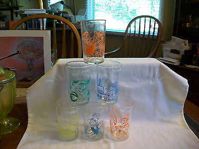 6 Hanna Barbera Flintstones Glasses Fred Barney Wilma Betty Bambam Pebbles Dino