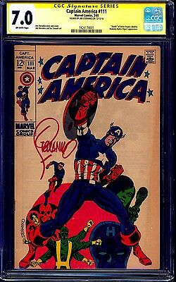 Captain America #111 CGC SS 7.0 signed in RED by Jim Steranko CLASSIC COVER
