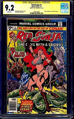 Red Sonja #1 CGC SS 9.2 signed by Roy Thomas NM- SHE-DEVIL WITH A SWORD 1977