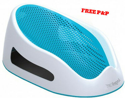 Baby Bath Support Seat Angelcare Soft Touch Anti-Slip up to 14 Kg Blue NEW