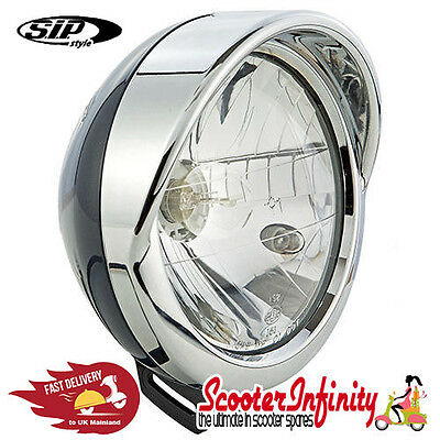 Headlight Rim Cap Vespa LXV 50-150cc (Chrome) (MV headlamp rim , to screw)