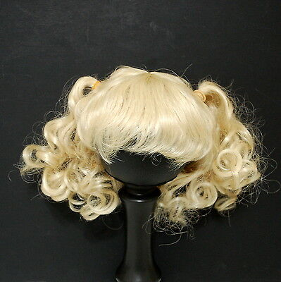 "Doll Wig 14-15"" Blonde Curls Pigtails Fits My Twinn"