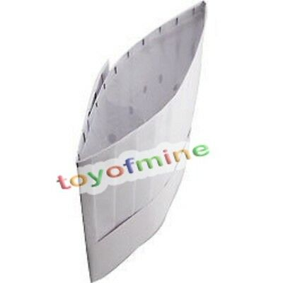 New 9 Inch High White Chef Hat Catering Hats Food Serving Disposable paper