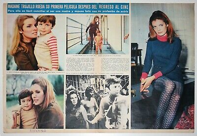DANIELLE GAUBERT 2 page 1967 spain magazine article clippings french actress