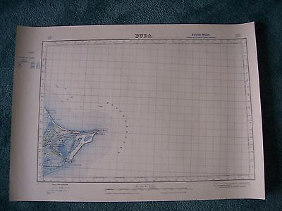 Vintage Military map 1:50,000 Spain BUDA  sheet 523 3rd Edition 1950