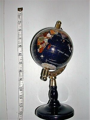 Attractive and Petite Gemstone Decorative Globe on Stand