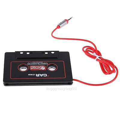 New 3.5mm Car Stereo Music Player Audio Cassette Tape Adapter for Mp3 Mp4 Black