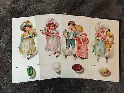 Lot Of Clover Leaf Creamery Horoscope Cards (4/12)