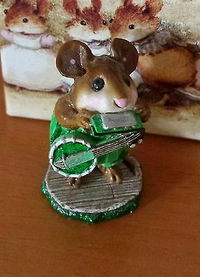 "Wee Forest Folk ""One-Mouse Band"" # M-196a (AP) LIMITED EDITION Shamrock Mint"
