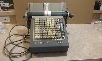 Old 1940's Post Office MONROE 800 Adding Machine for Parts / Repair
