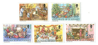 Victorian Christmas - Guernsey mnh set of 5
