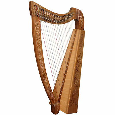 22 String Muzikkon Lever Harp,Celtic harp,Irish Harp with lever Trinity series