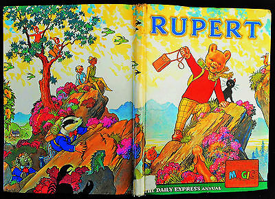 Vintage 1964 Rupert Bear Annual, Price Unclipped 6/-