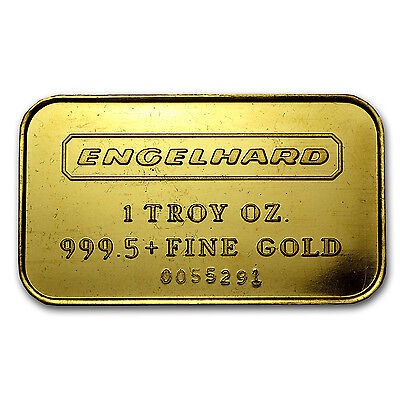 1 oz Gold Bar - Engelhard (7-digit Serial #, Frosted Reverse) - SKU #63944