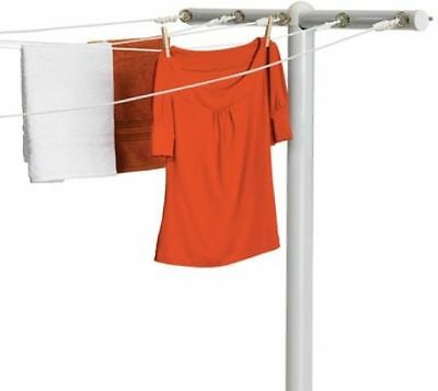 Outdoor Clothes Line Dryer Laundry Hanger Rack T-Post Steel Pole System Backyard
