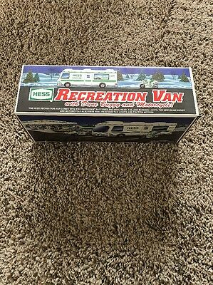 1998 Hess Recreation Van With Dune Buggy & Motorcycle In Box
