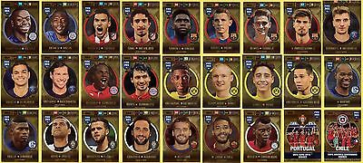 Panini FIFA 365 2017 set of 27 cards GOLD IMPACT SIGNINGS - Complete