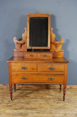 Victorian Walnut Dressing Table/Chest