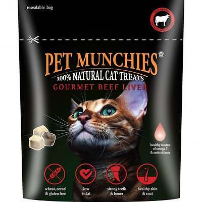 Pet Munchies Gourmet Beef Liver for Cats 10g x 2 Cat Treat Treats Chew Reward