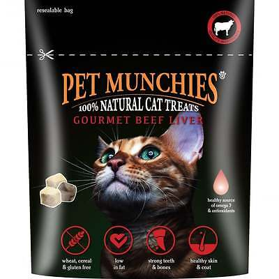 Pet Munchies Gourmet Beef Liver for Cats 10g x 5 Cat Treat Treats Chew Reward