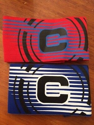 Captain Armband  New  Blue And Red