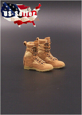 "1/6 Soldier Assault Combat Boots For 12"" Phicen Hot Toys Kumik Female Figure USA"