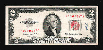 1953 B $2 United States Red Seal Note Star