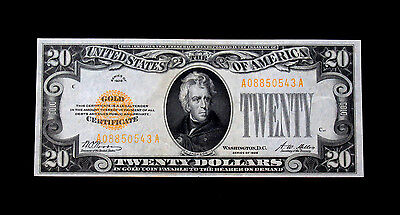 1928 $20 Gold Certificate Currency