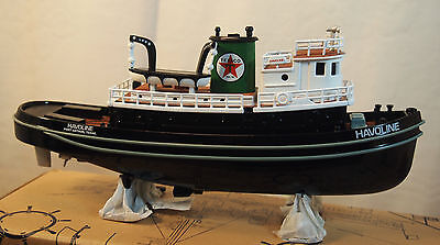 2001 Texaco Havoline  Diecast Tugboat Bank - 1:25 Scale - Ertl Collectibles