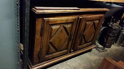 Antique carved wooden sideboard