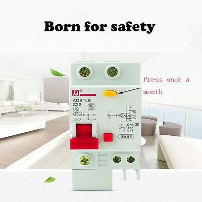 1P+N16A Brand New Durable Hot Small Leakage Protector Breaker Circuit Switch